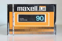 Maxell LN C-90, introduced about 1981. Getting better but was still a 'budget' tape.