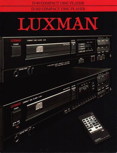 Luxman D-90, D-102 CD-Players Brochure 1987