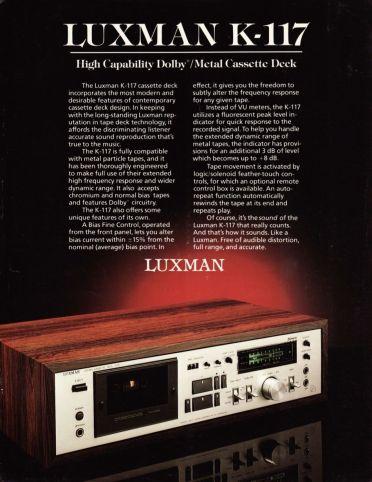 Luxman K-117