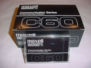 Maxell Professional Industrial Blank Cassette Tape C60